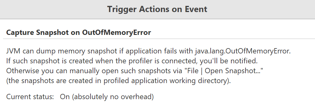 YourKit Java Profiler Help - Out of memory error