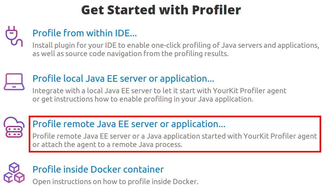 YourKit Java Profiler Help - Remote profiling from user